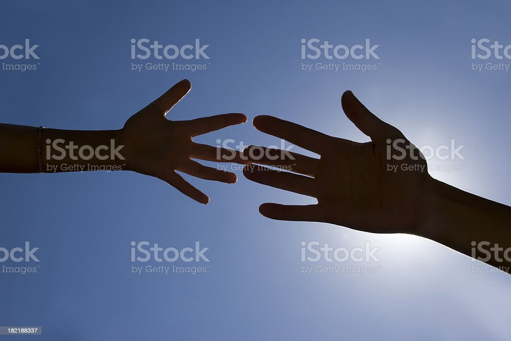 two generation hands touching royalty-free stock photo