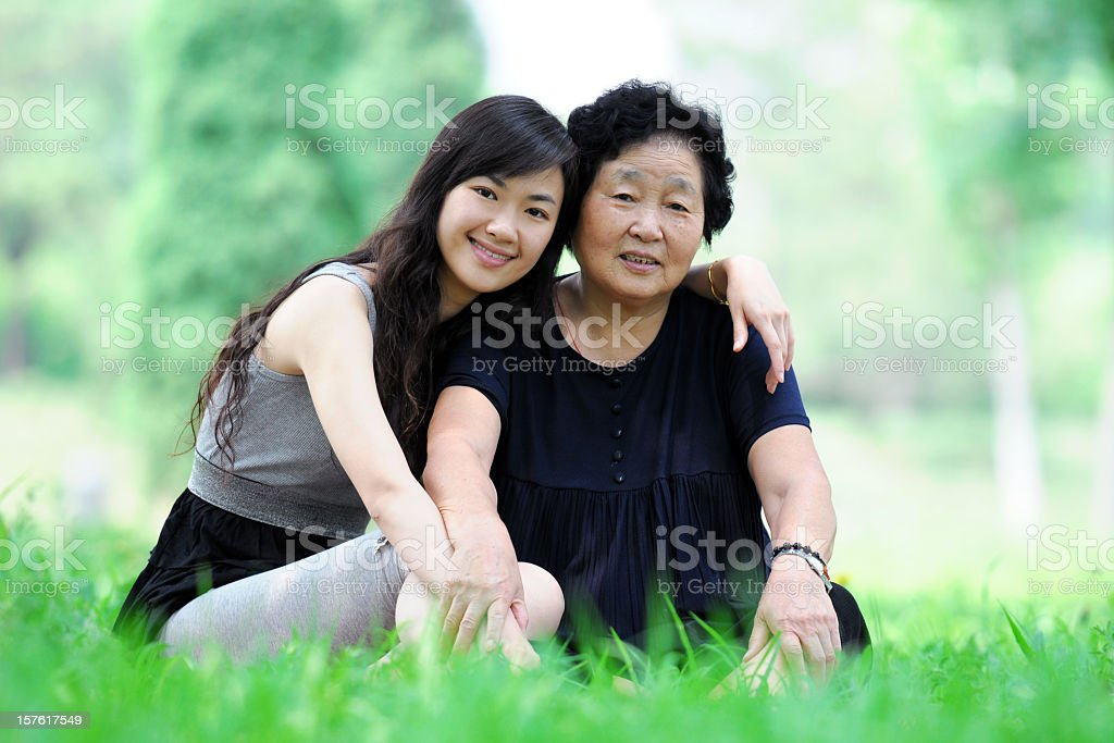 Two Generation - XLarge stock photo