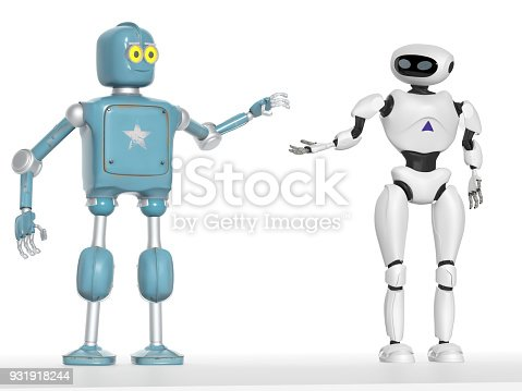 istock two generations of robots holding hands with an on-white background 3d render 931918244