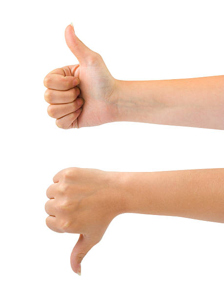 Two gesturing hands stock photo