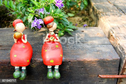 istock Two girls in one branch 521340717