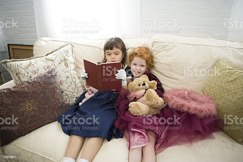 Two girls royalty-free stock photo
