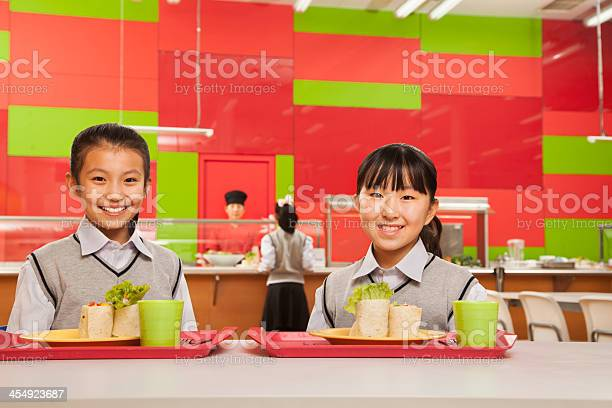 Two girls sitting in school cafeteria picture id454923687?b=1&k=6&m=454923687&s=612x612&h=1gtkgceq7bqusw8siaex2nezm onexed2dp420lsprc=