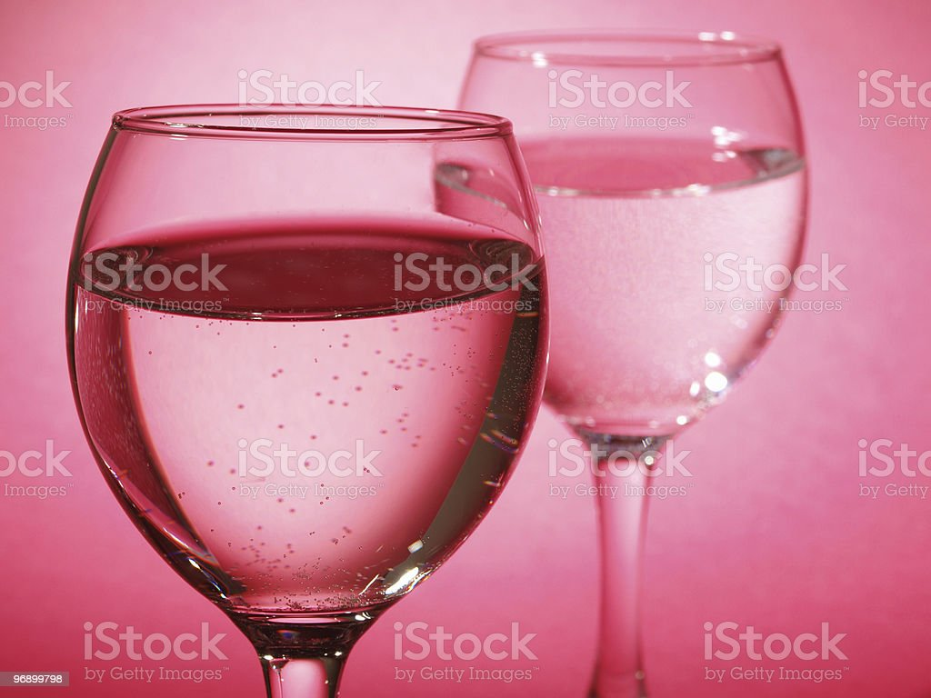 Two glass on pink royalty-free stock photo