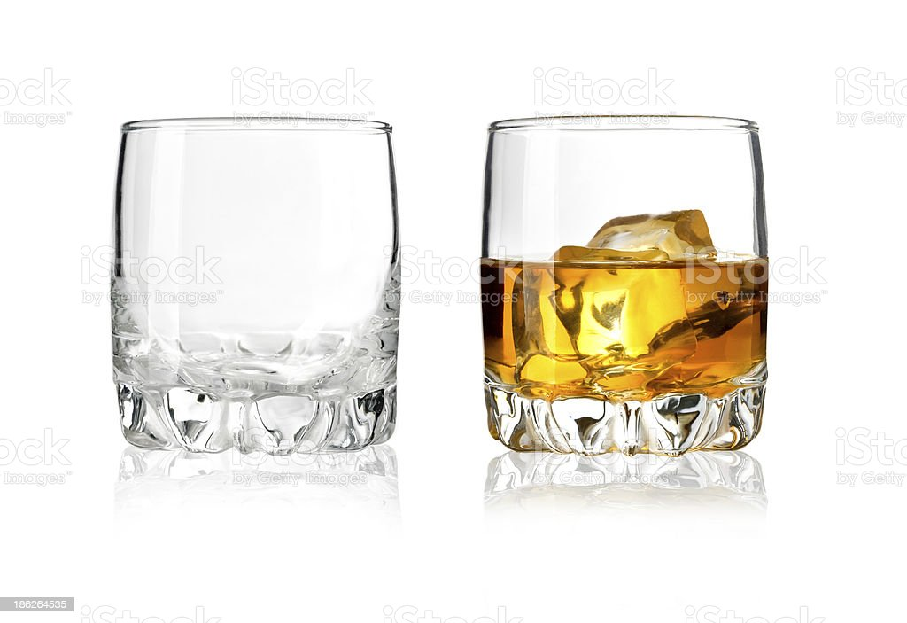 Two glass stock photo