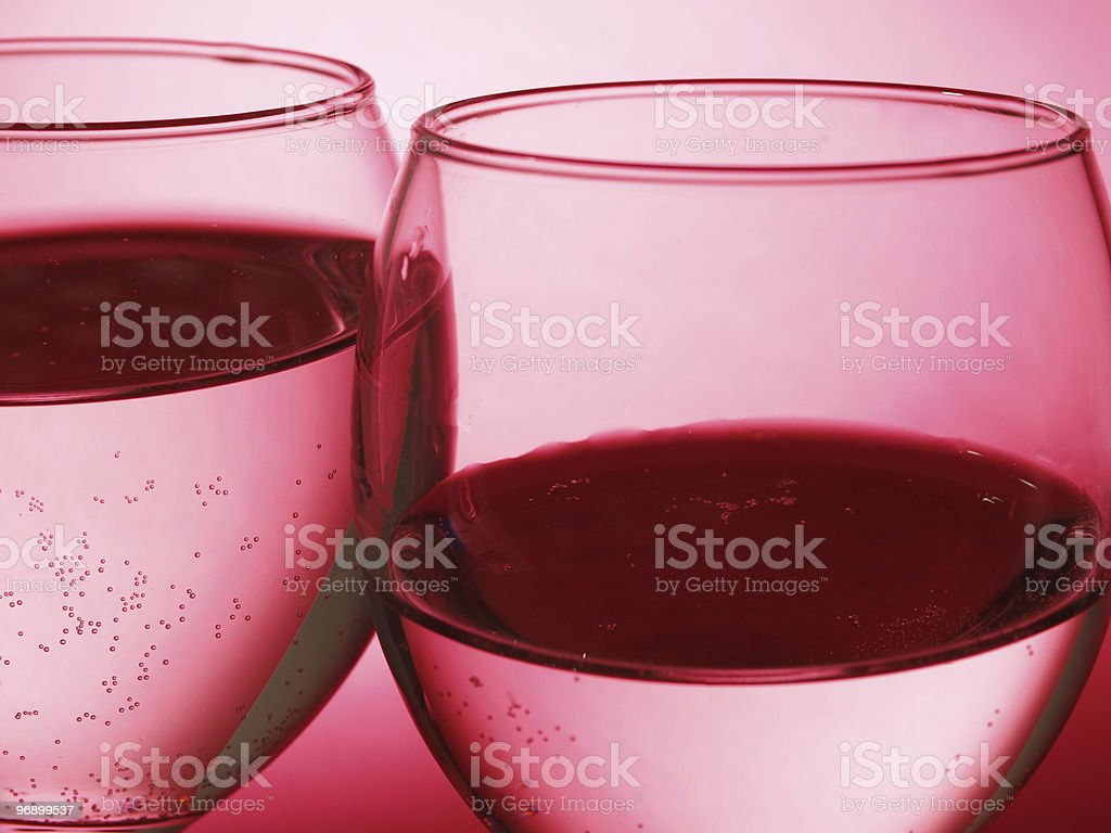 Two glass with bubble royalty-free stock photo