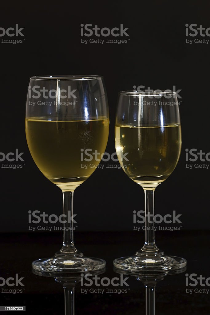 Two glasses of champagne. royalty-free stock photo