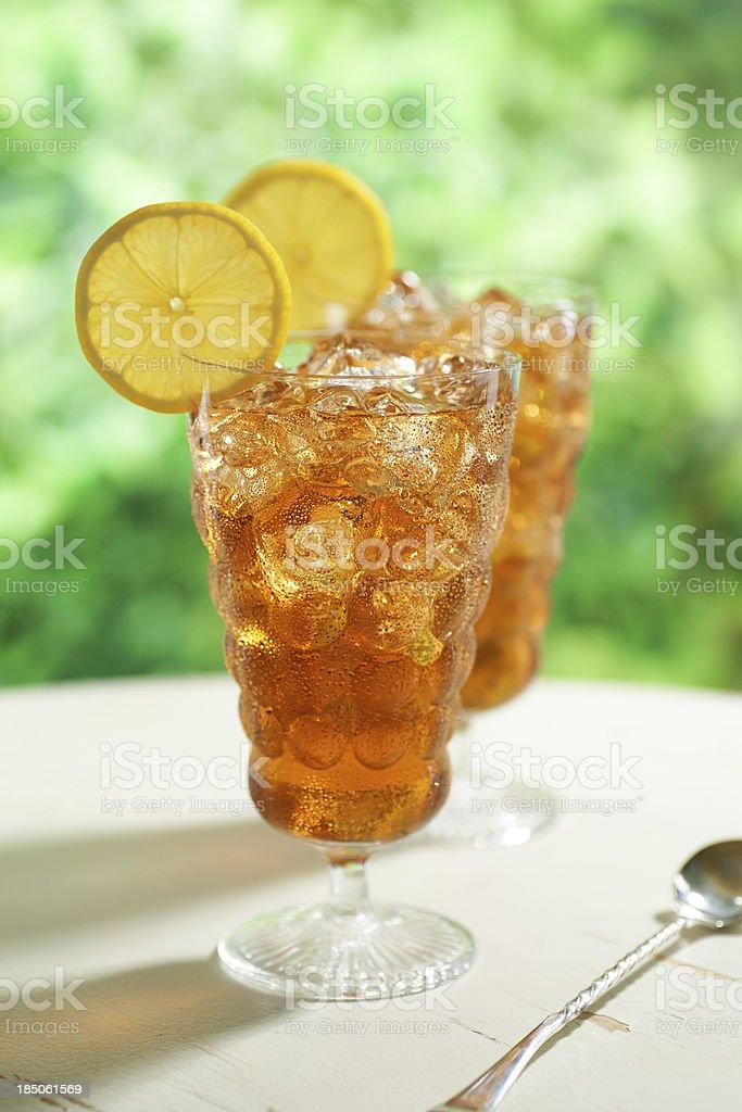 Zwei Gläser Eistee Lizenzfreies stock-foto