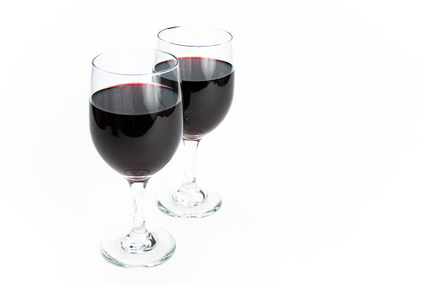 Two glasses of red wine on isolating background