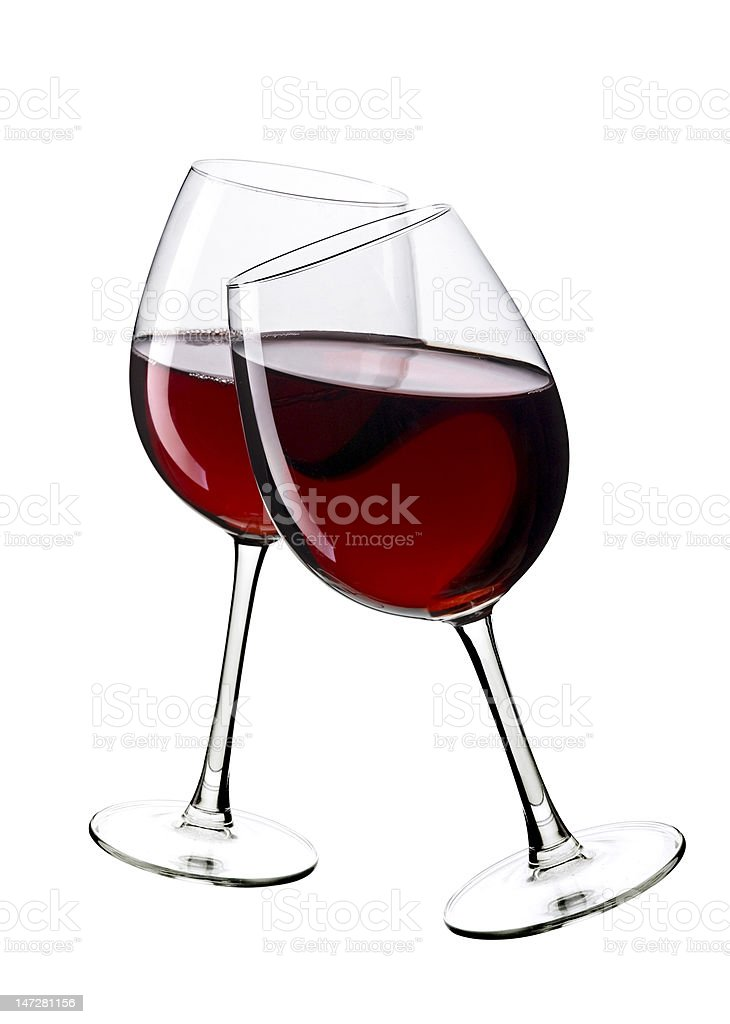 two glasses of wine royalty-free stock photo