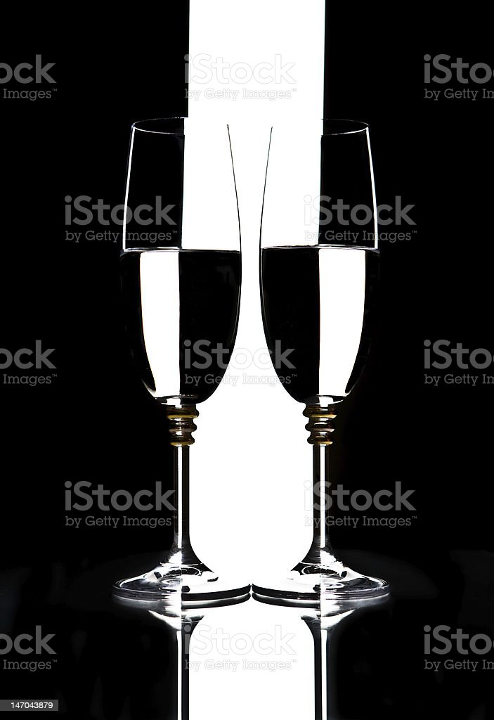 two glasses royalty-free stock photo
