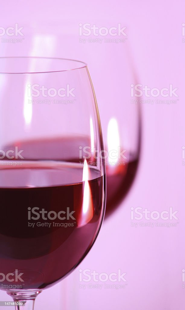 Two glasses with red wine closeup royalty-free stock photo