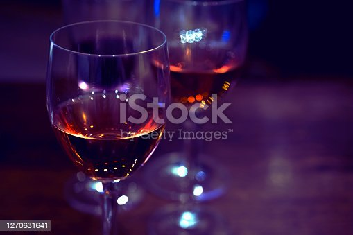 Two glasses with wine, close-up