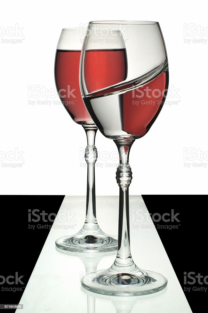 Two glasses with wine royalty-free stock photo