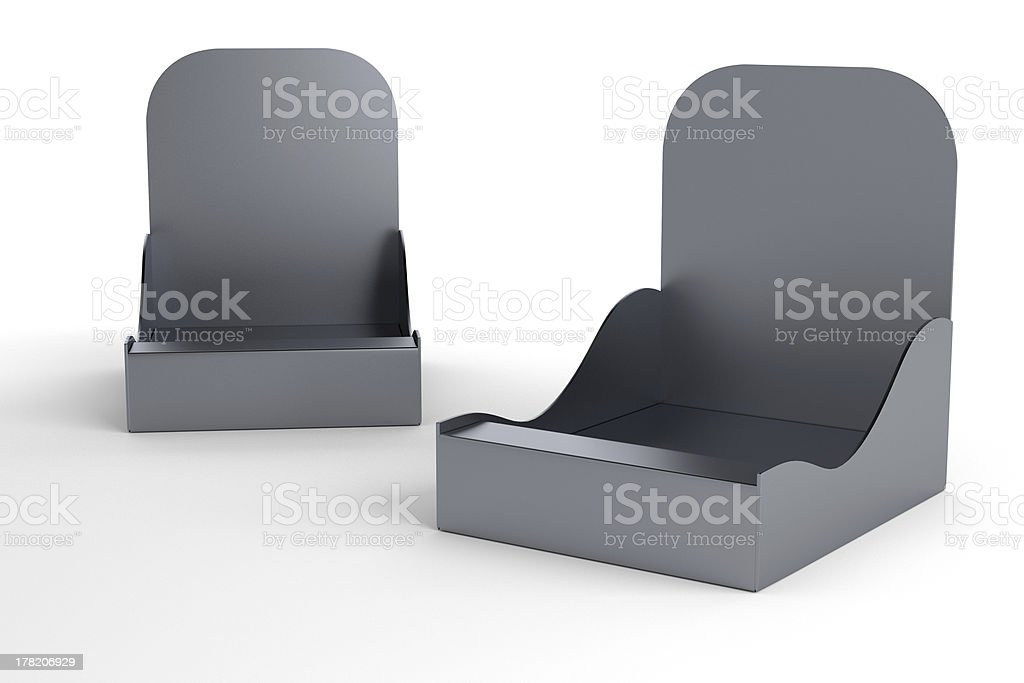 two glossy blank holders for products royalty-free stock photo