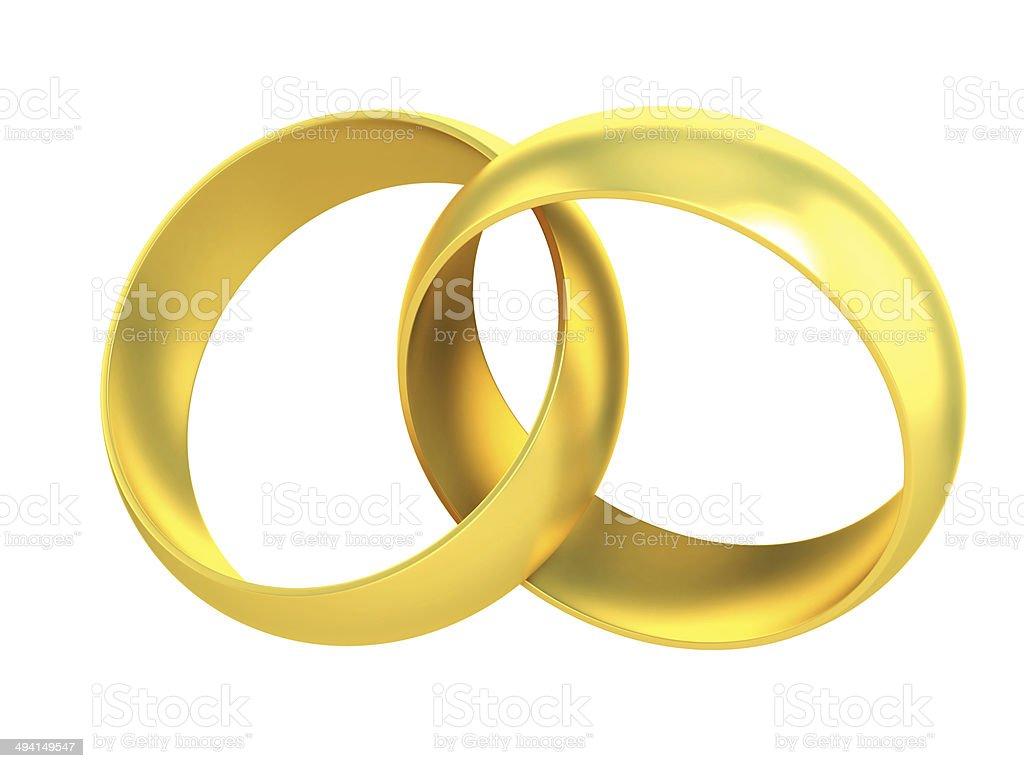 Photo Libre De Droit De Deux Bagues De Mariage Or Symbole