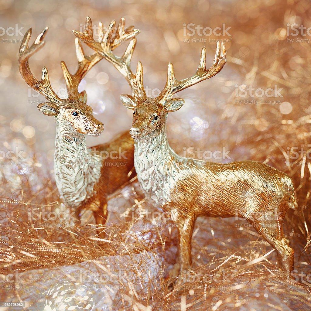 Two golden deer. Lizenzfreies stock-foto