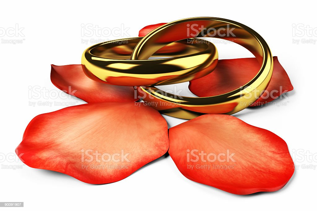 Two golden rings royalty-free stock photo
