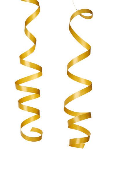 Deux or isolé et cotillons - Photo