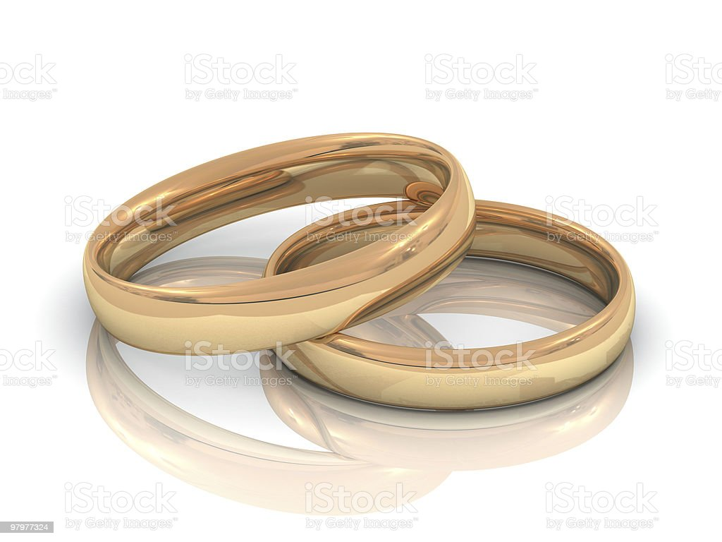 two golden wedding rings royalty-free stock photo