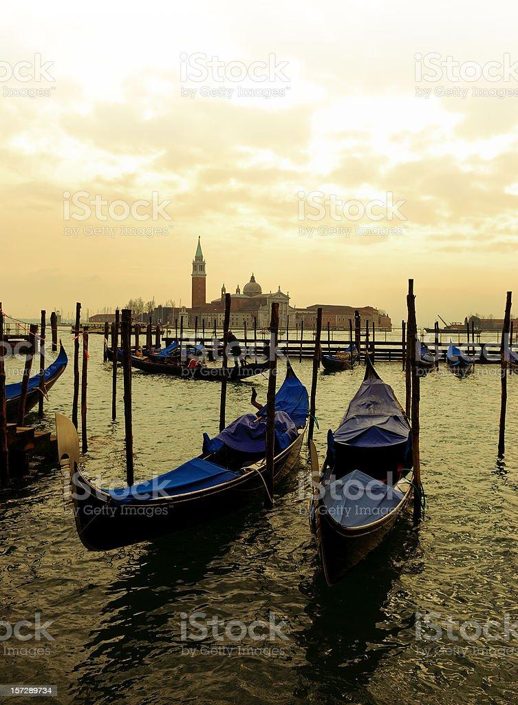 two gondolas royalty-free stock photo