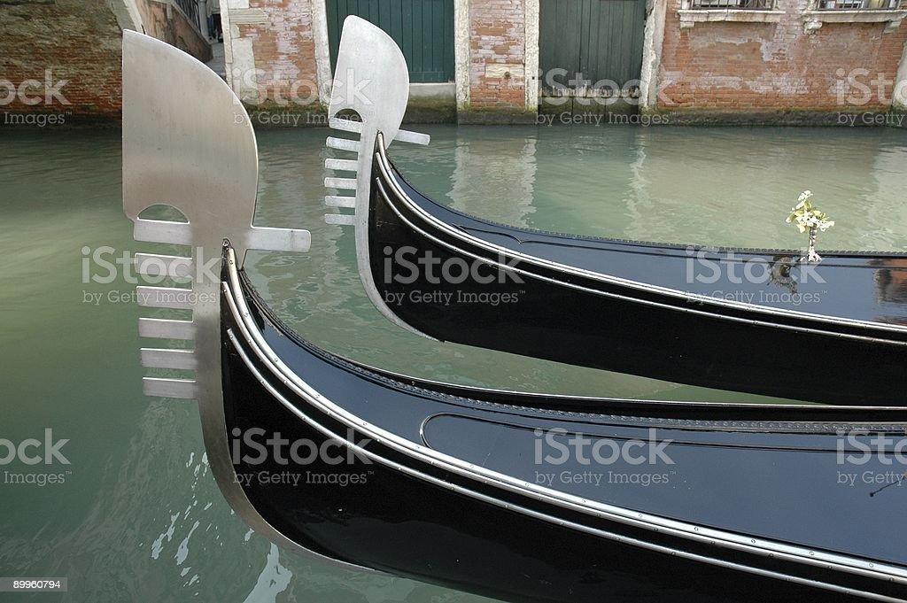 Two Gondolas, Venice, Italy. royalty-free stock photo