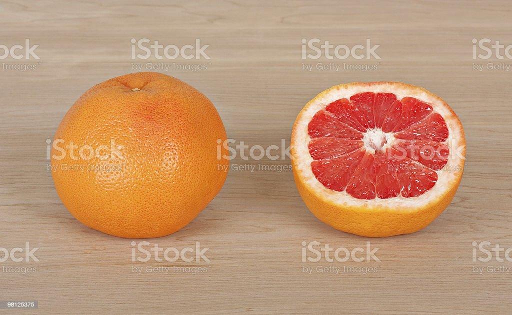 Two Grapefruits royalty-free stock photo