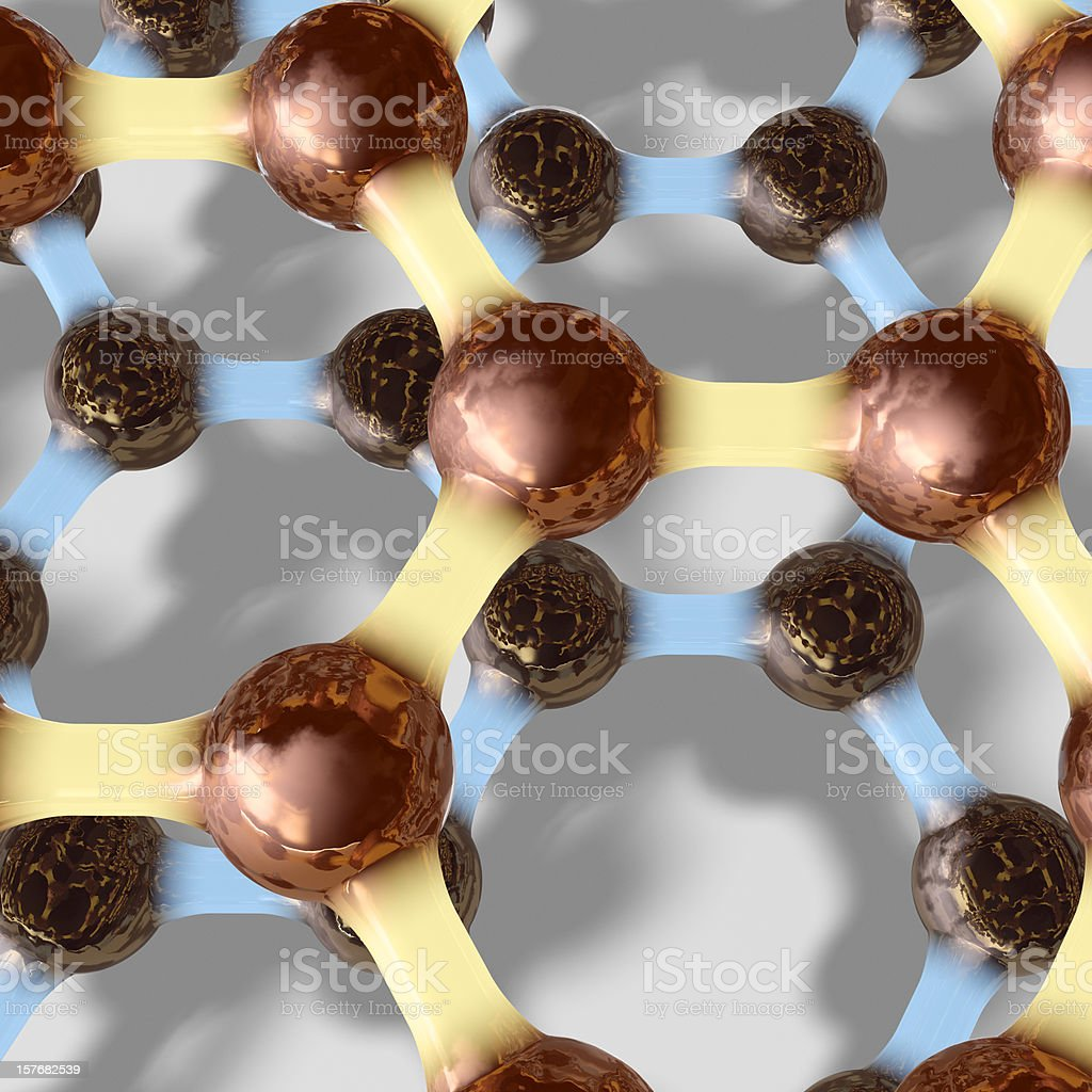 Two Graphene Sheets stock photo