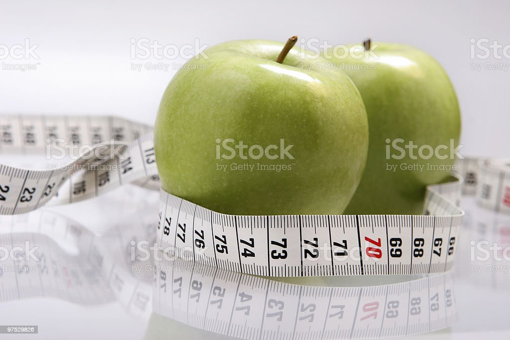 Two green apple royalty-free stock photo