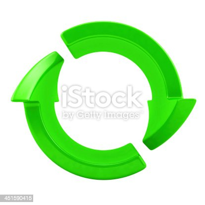 istock Two green arrows 451590415