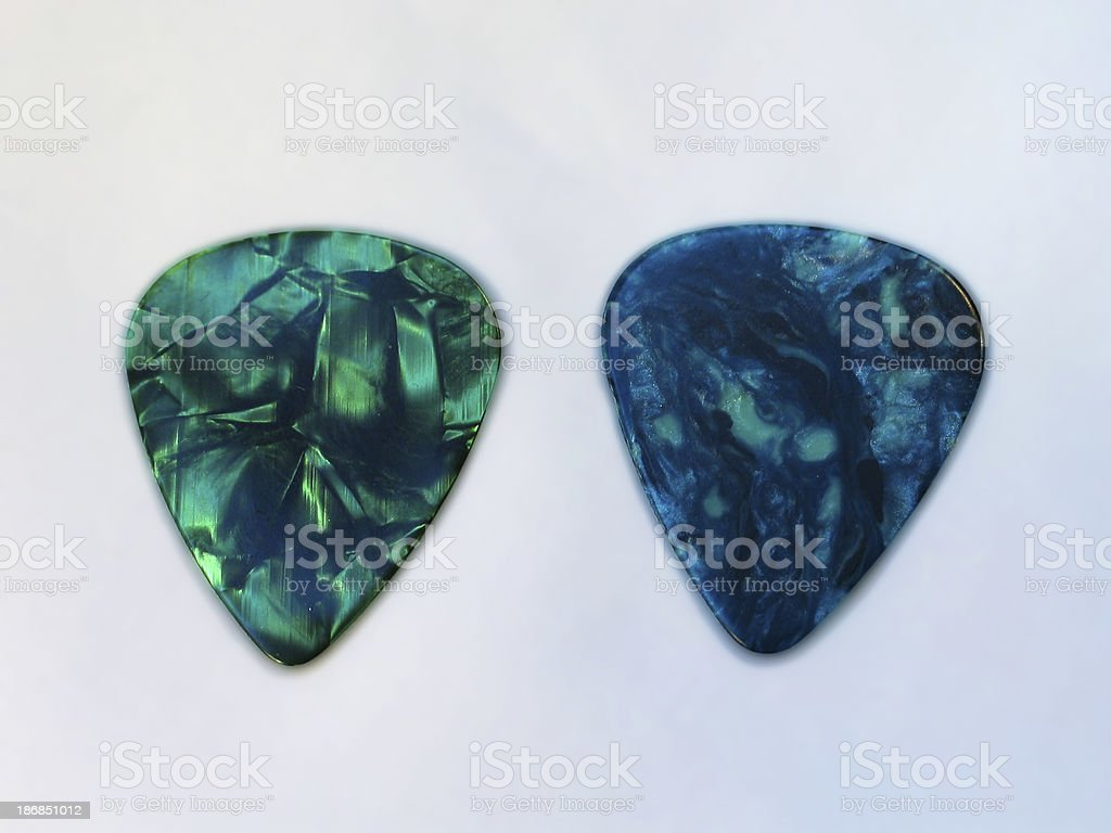 Two Guitar Picks stock photo