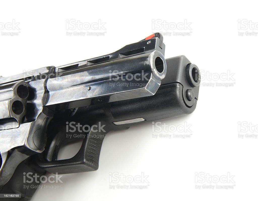 Two guns stock photo