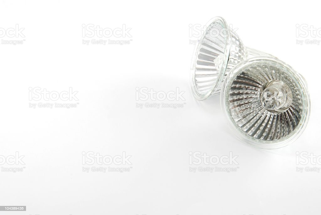 Two halogen bulbs stock photo