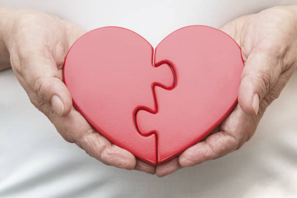Two Halves of One Heart stock photo