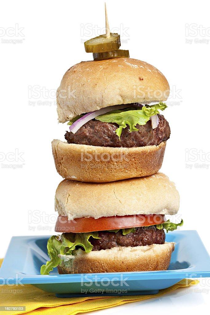 Two Hamburger Sliders royalty-free stock photo