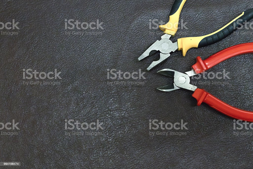 Two Hand Tools Pliers And Mites Electrical Repair Wiring ... Wiring By Design on