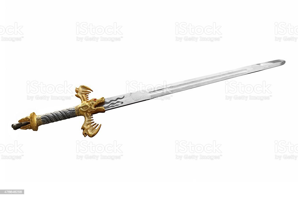 Two handed sword stock photo