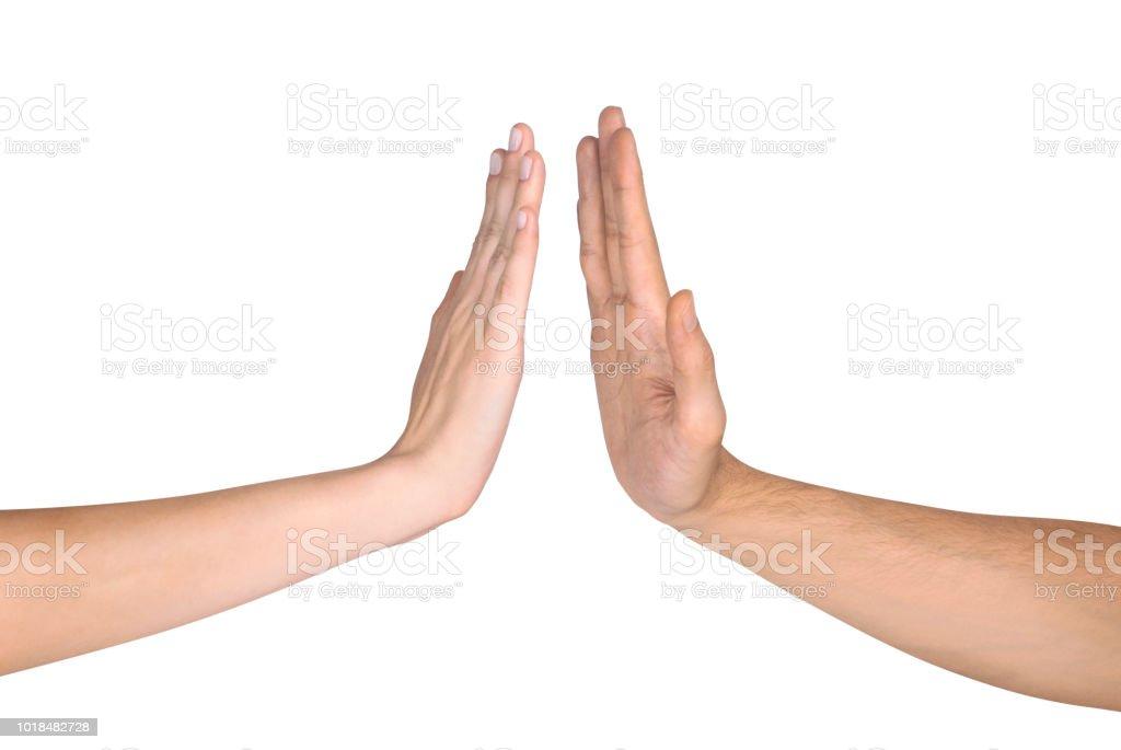 Dos manos gestos - Foto de stock de Abofetear libre de derechos