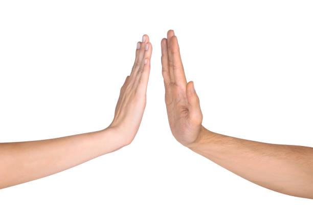 dos manos gestos - high five fotografías e imágenes de stock