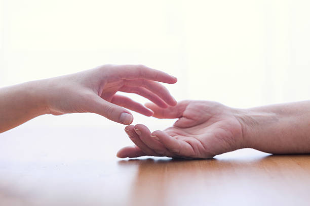 two hands isolated - psychiatric ward stock photos and pictures