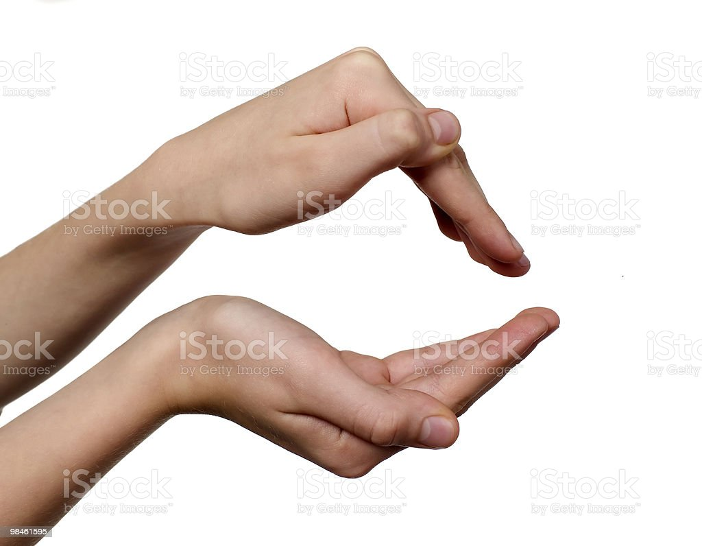 Two hands of child royalty-free stock photo