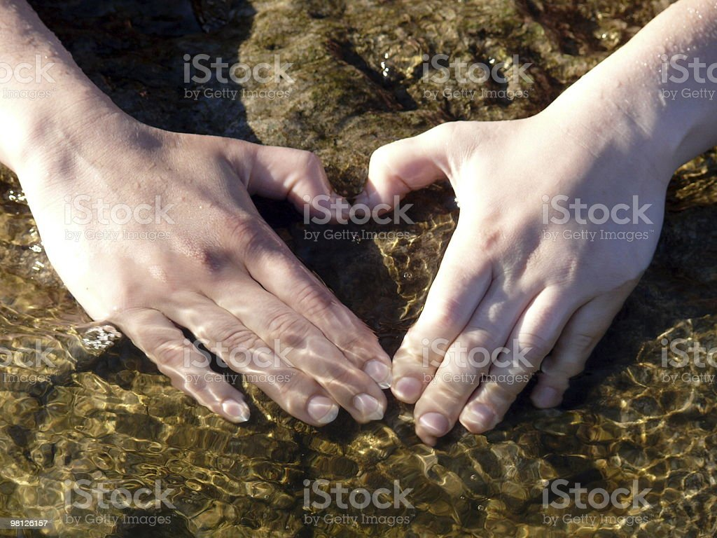two hands - symbol of heart royalty-free stock photo