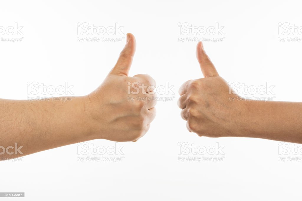 Two Hands up stock photo