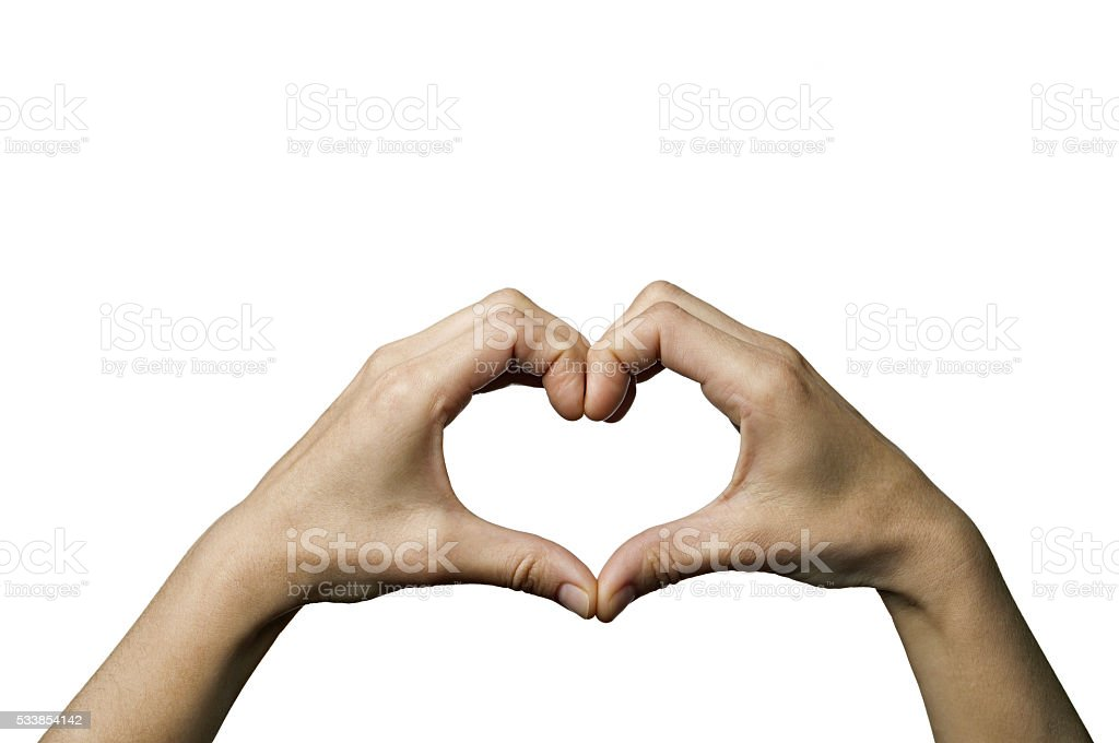 Two hands-heart stock photo