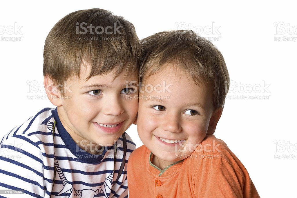 Two happy brothers royalty-free stock photo