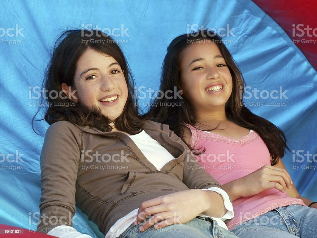 Two happy girls - Royalty-free Adult Stock Photo