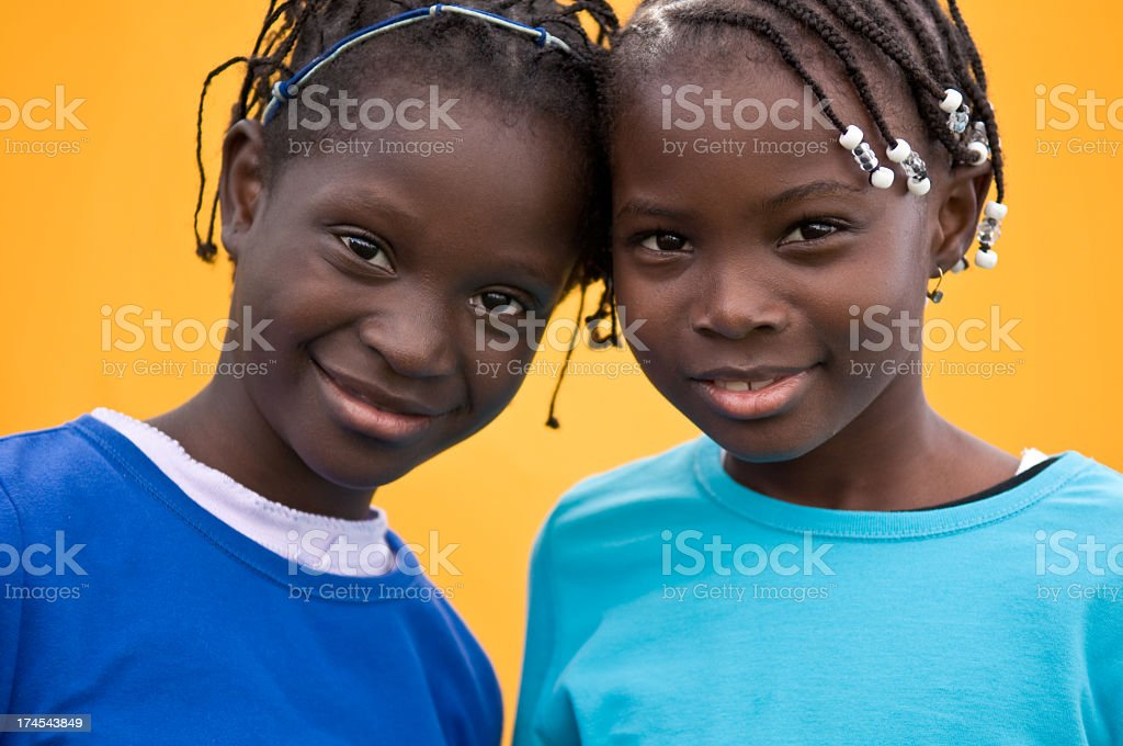 Two Happy Girls Together royalty-free stock photo