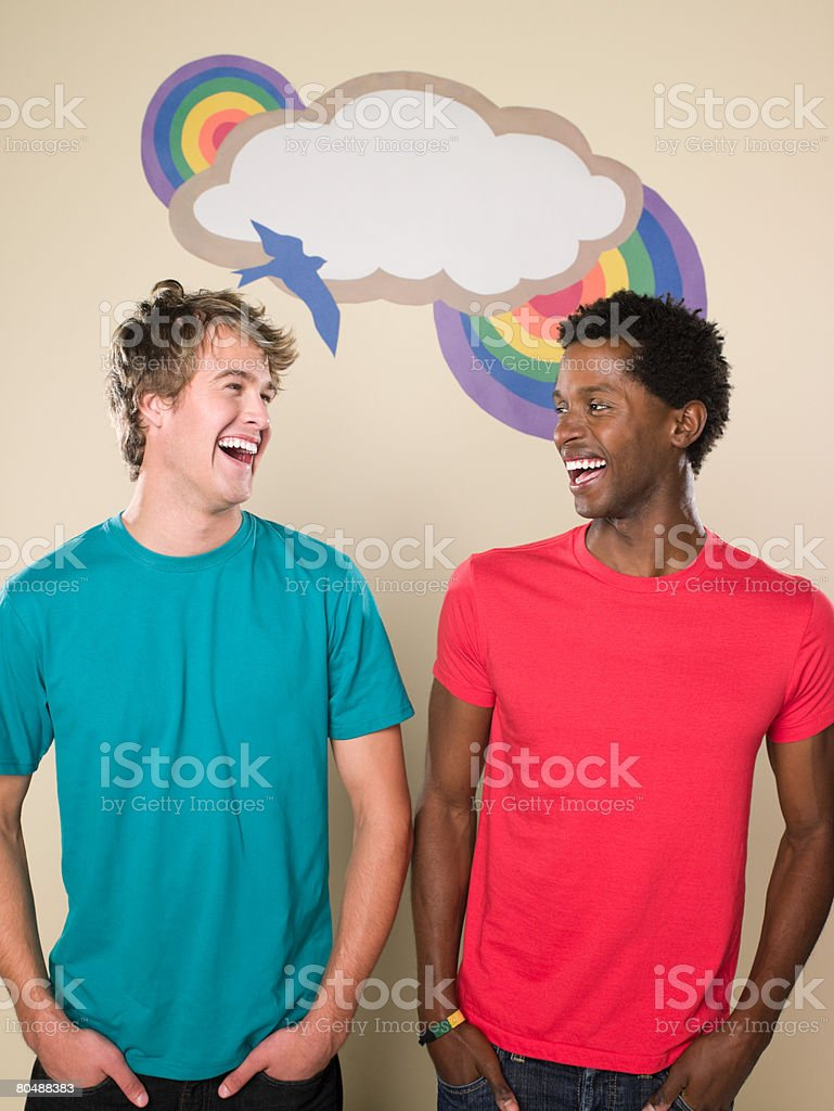 Two happy men royalty-free 스톡 사진