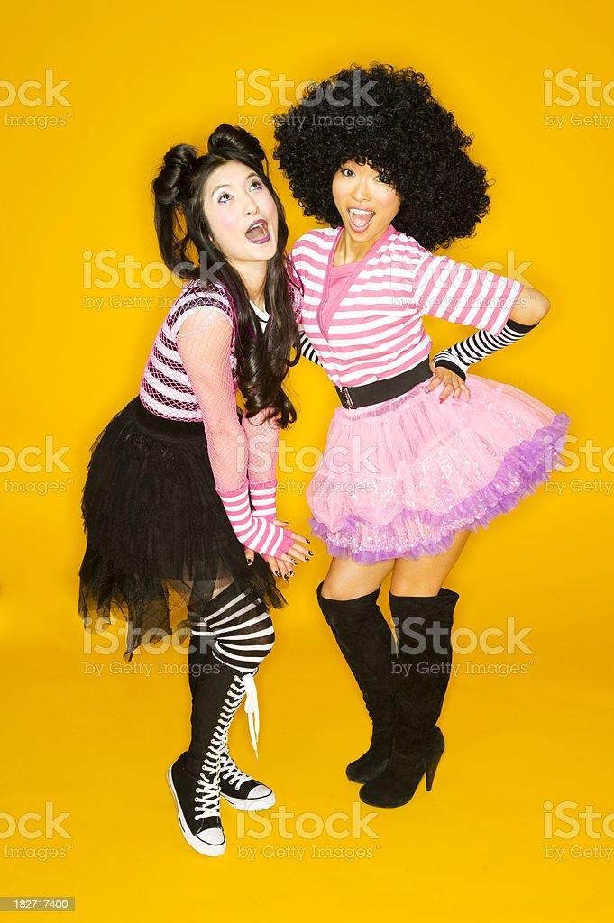 Two Harajuku Girls stock photo