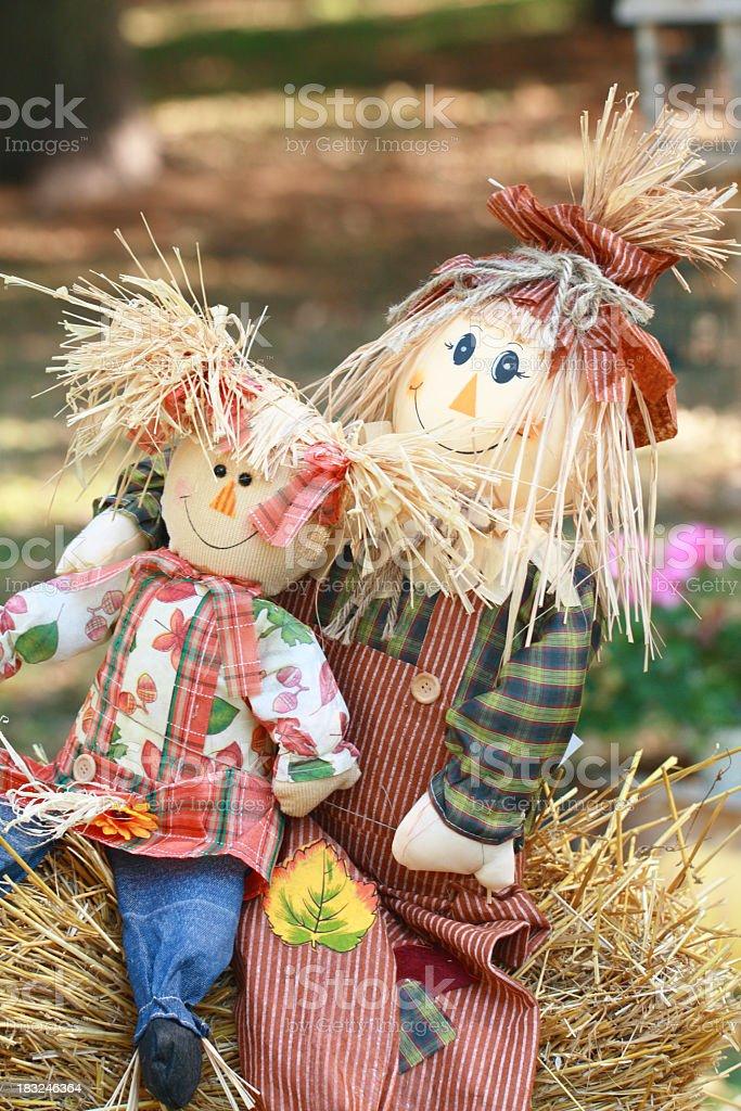 Dois Harvest férias bonecas - foto de acervo